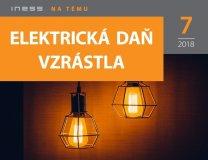Elektrická daň v roku 2018